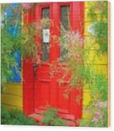Colorful Entrance ... Wood Print
