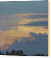 Colorful Evening Sky Wood Print