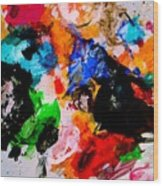 Colorful Expression 13 Wood Print