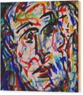 Colorful Expression-8 Wood Print