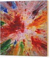 Colorful Expression-9 Wood Print