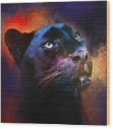 Colorful Expressions Black Leopard Wood Print