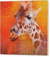 Colorful Expressions Giraffe Wood Print