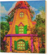 Colorful Fantasy Windmill Wood Print