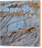 Colorful Fins Of Sandstone In Valley Of Fire Wood Print