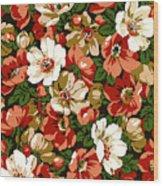 Colorful Floral Design Wood Print