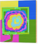 Colorful Flower  Wood Print