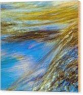 Colorful Flowing Water Wood Print