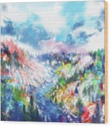 Colorful Forest 5 Wood Print