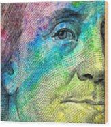 Colorful Franklin Wood Print
