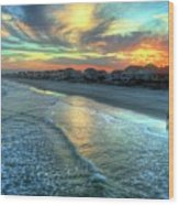 Colorful Garden City Sunset Wood Print