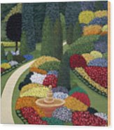 Colorful Garden Wood Print