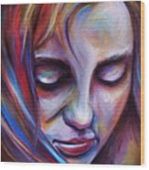Colorful Girl Wood Print