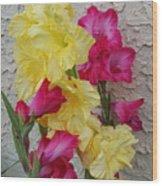 Colorful Glads Wood Print
