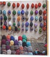 Colorful Hats Wood Print