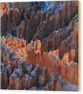 colorful hoodoos in Bryce Canyon Wood Print
