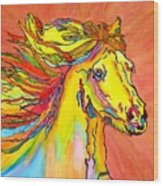 Colorful Horse Wood Print
