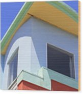 Colorful House In San Francisco Wood Print