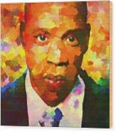 Colorful Jay Z Palette Knife Wood Print