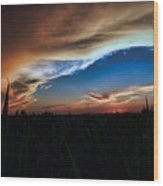 Kansas - Land Of Beautiful Sunsets Wood Print