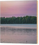 Colorful Lake-side Sunset Wood Print