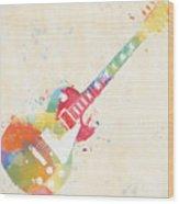 Colorful Les Paul Wood Print