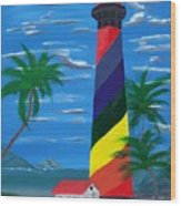 Colorful Lighthouse Wood Print