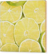 Colorful Limes Wood Print
