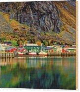 Colorful Lofoten, Norway Wood Print
