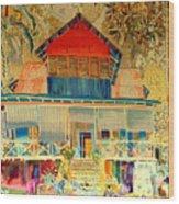 Colorful Mauritiun Cottage Wood Print