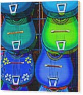 Colorful Mexican Guitars Wood Print