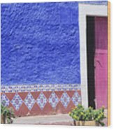 Colorful Mexico Wood Print