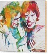 Colorful Mick And Keith Wood Print