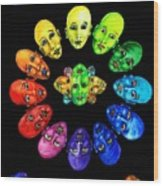 Colorful Minds Wood Print