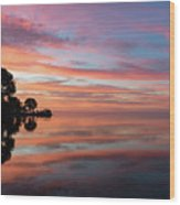 Colorful Morning Mirror - Spectacular Sky Reflections At Dawn Wood Print