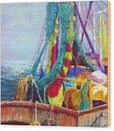 Colorful Nets Wood Print