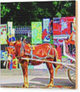 Colorful New Orleans Wood Print