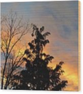 Colorful Nightfall Wood Print