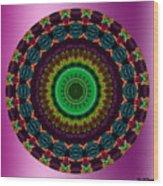 Colorful No. 4 Mandala Wood Print