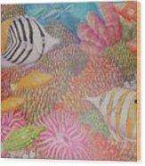 Colorful Ocean Wood Print
