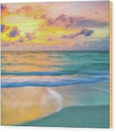 Colorful Ocean Sky Wood Print