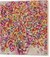 Colorful Organza Wood Print