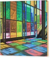 Colorful Palais Des Congres Montreal Canada Wood Print