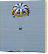 Colorful Parasailing Wood Print