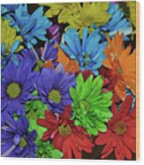 Colorful Petals Wood Print