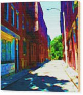 Colorful Place To Live Wood Print by Julie Lueders