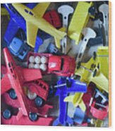 Colorful Plastic Toys #1 Wood Print