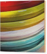 Colorful Plates Wood Print