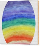 Colorful Rainbow Colored Egg Wood Print
