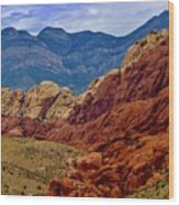 Colorful Red Rock Wood Print